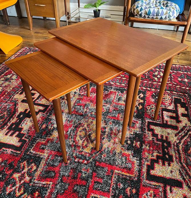 Vintage Set of Teak Nesting Tables from Denmark