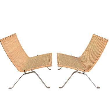 PK 22  Lounge Chairs designed by Poul Kjaerholm Danish Modern by HearthsideHome