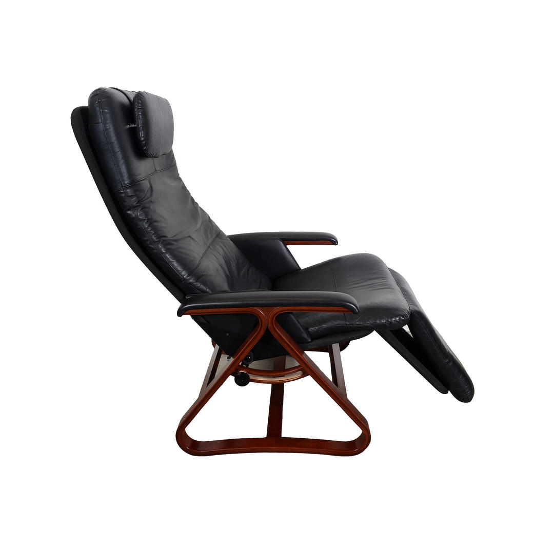 Leather lounge chair backsaver zero gravity chair danish for Anti gravity chaise recliner