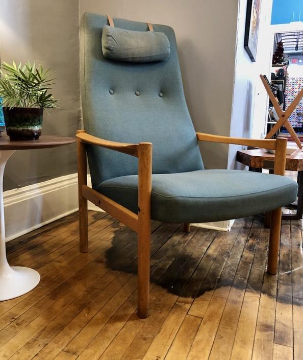 Vintage Swedish Modern High-back Lounge Chair