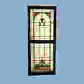 Double Sash Stained Glass Window
