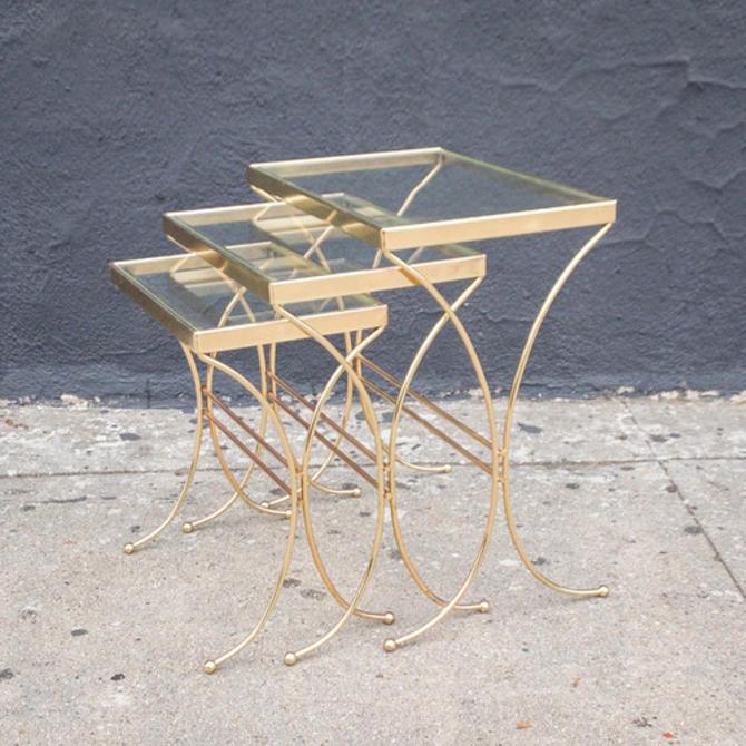 1960's Vintage Hollywood Regency Nesting Tables