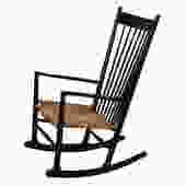 Black Danish Modern Rocking Chair