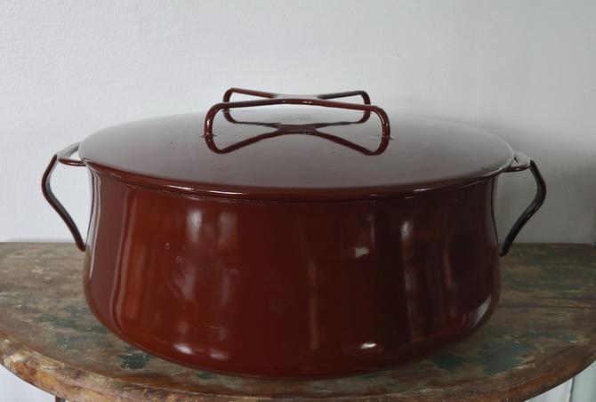 Vintage Brown Dansk Kobenstyle Dutch Oven Designed by Jens Quistgaard by ModandOzzie