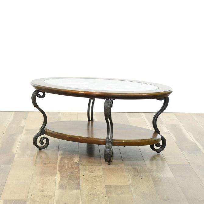 Contemporary Scrolled Metal Frame Coffee Table