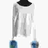 Prada Feather Cuffed Shirt