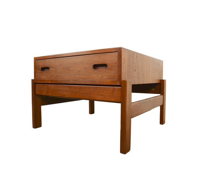 Teak Side Table Sewing Table Danish Modern by HearthsideHome