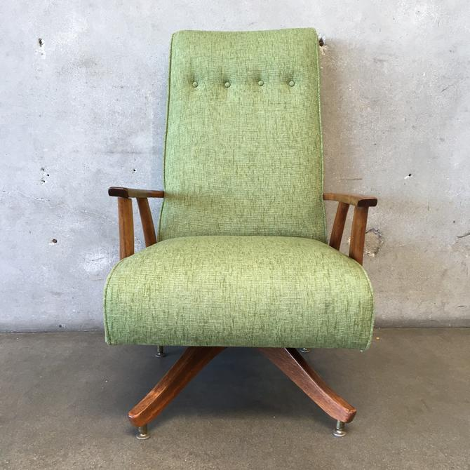 Vintage Mid century Reupholstered Rocking Chair