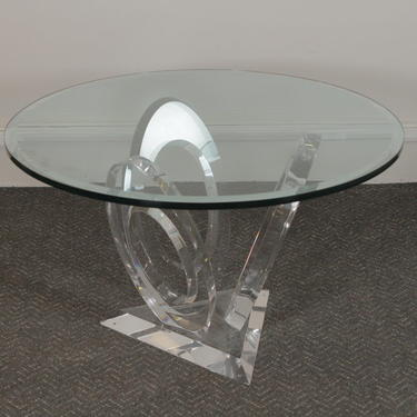 """""""Eclipse of Time"""" Table, USA 1990 Acrylic, Glass Signed at base """"Mikhail Loznikov"""""""