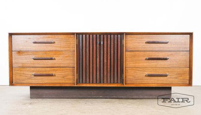 Walnut and Rosewood Dresser by Lane