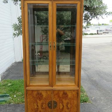 American of Martinsville Hollywood Regency China Display Cabinet Cupboard 2397