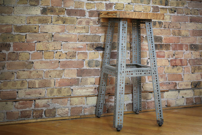industrial plant stand / entry room table by jeglova