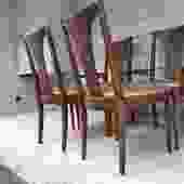 Set of 4 Midcentury Brasilia Dining Chairs