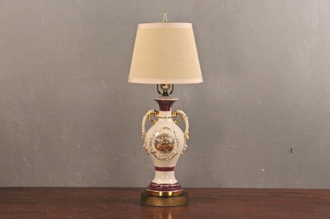 French provincial courtship table lamp from furnish green attic french provincial courtship table lamp aloadofball Image collections