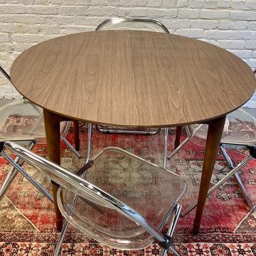 Mid Century Modern Walnut ROUND DINING TABLE by CIRCA60
