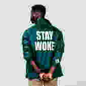 Stay Woke Coaches' Jacket: Forest Green