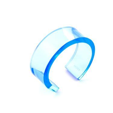 CLARA CUFF, Acrylic Cuff, Blue Bracelet, Clear Cuff, Black Cuff, Blue Cuff, Acrylic Bracelet, Cuff, Statement Cuff, Contemporary Cuff by CHOFA