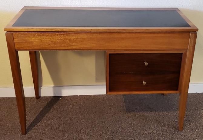 Item #R880 Vintage Teak Lift Top Vanity / Desk by Uniflex c.1962