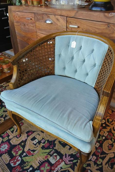 Robin's egg blue chair. $110, two available