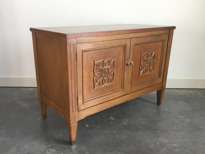 vintage mid century cabinet table.