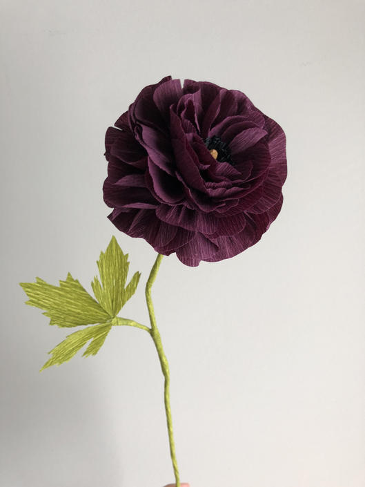 Crepe Paper Ranunculus -- Paper Flowers for Home Decor or Weddings by ReveryPaperFlora