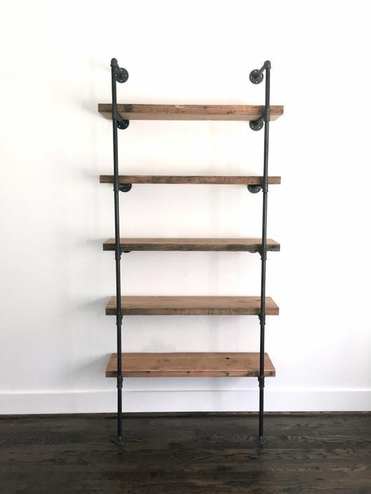 The BENTLEY Bookshelf - Featured on HOUZZ! - Reclaimed Wood Industrial Bookshelf - Reclaimed Wood & Pipe Shelf by arcandtimber