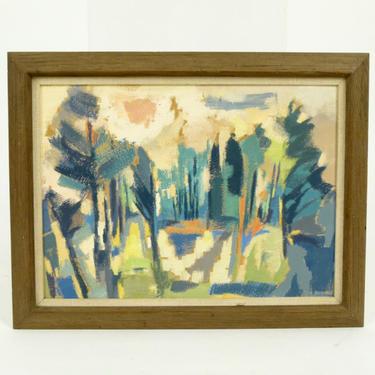 Modernist Landscape Oil on Board