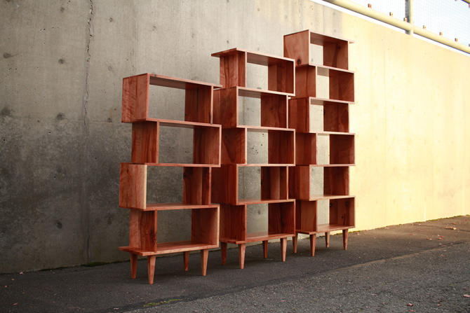 OFFSTACK Bookcase, Bookshelf, Mid-Century Modern (Shown in Madrone) by TomfooleryWood