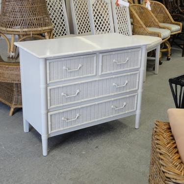 Oversized Faux Bamboo & Wicker Chest
