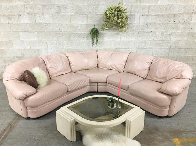 LOCAL PICKUP ONLY ———— Vintage Leather Sectional by RetrospectVintage215