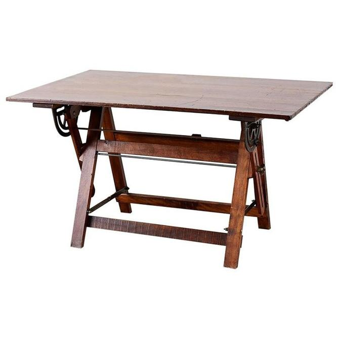 American Folding Drafting Table or Writing Table by ErinLaneEstate