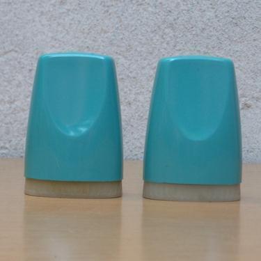 Aqua Blue Vintage Salt and Pepper Shakers by ilikemikes