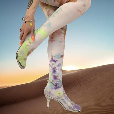 Multi Tie Dye Tights by shopjournal