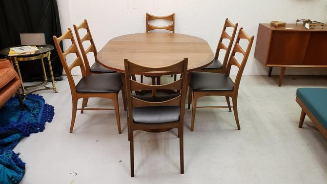 Lane Rhythm Dining Table and Six Chairs
