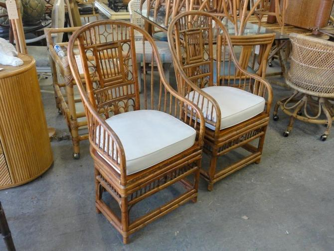 Pair of Bamboo Brighton Style Chairs