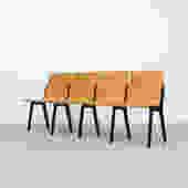 Roland Rainer 4 Chair Plywood Bench