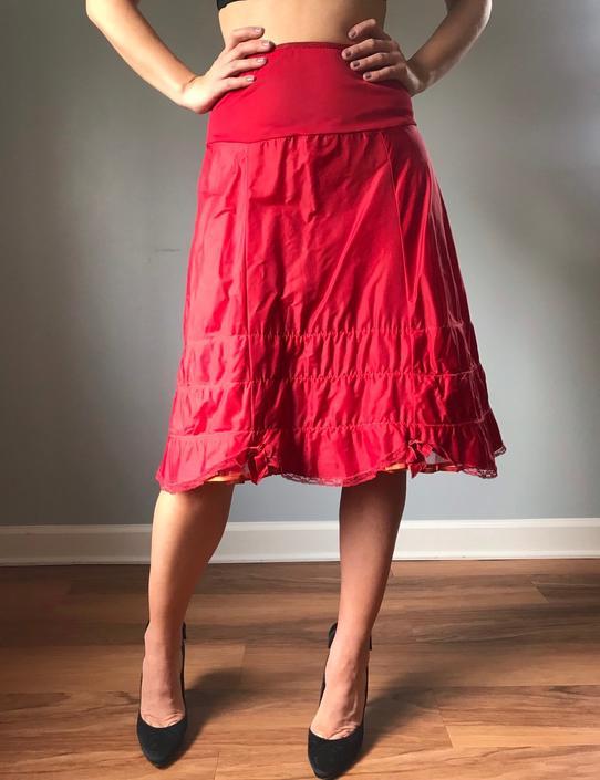 Vintage 50s Red Petticoat by SpeakVintageDC