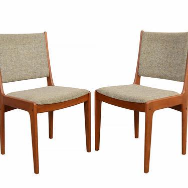 4 Teak  Dining Chairs Johannes Andersen Danish Modern by HearthsideHome