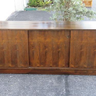 Hollywood Regency Long Sideboard Buffet Server TV Console Cabinet 2315
