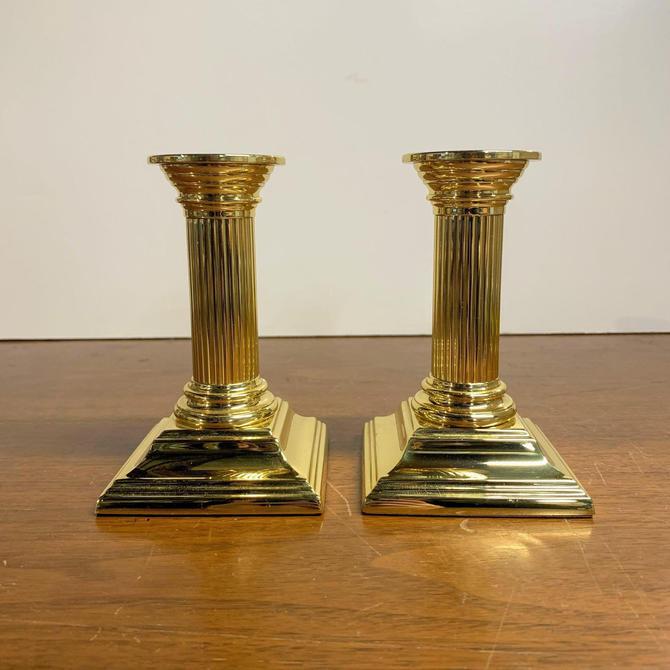 "Vintage Baldwin Brass Smithsonian Candlesticks Pair 5"" by OverTheYearsFinds"