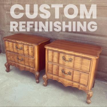 Custom listing reserved for Behnaz - set of two vintage French provincial nightstands by ShabbyRootsBoutique