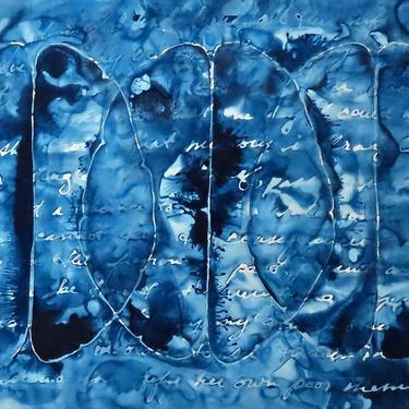 Fragile Memory: Original ink painting on yupo of brain - neuroscience art literature Isabel Allende by artologica