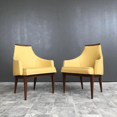 Pair of Mid Century Walnut dining chairs by Kipp S