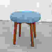 Blue Tweed Stool