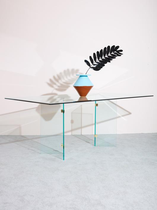 1980s Glass Dining Table