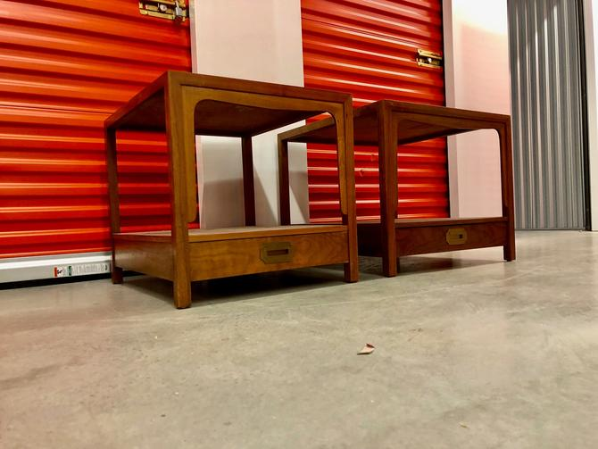 Baker Furniture Milling Road Mid Century Modern Nightstands, by BigWhaleConsignment