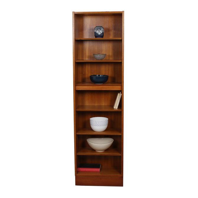 Custom Super-Slim & Tall Hundevad Danish Teak 21.75″ Adjustable Bookcase