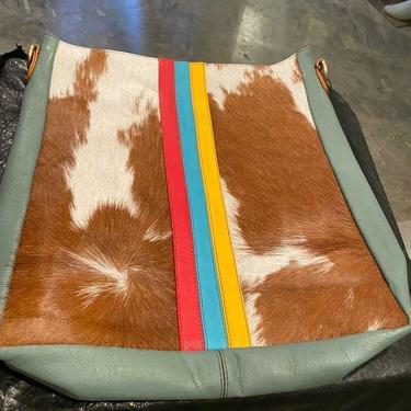 Indie Sage Leather and Hair on Hide Crossbody