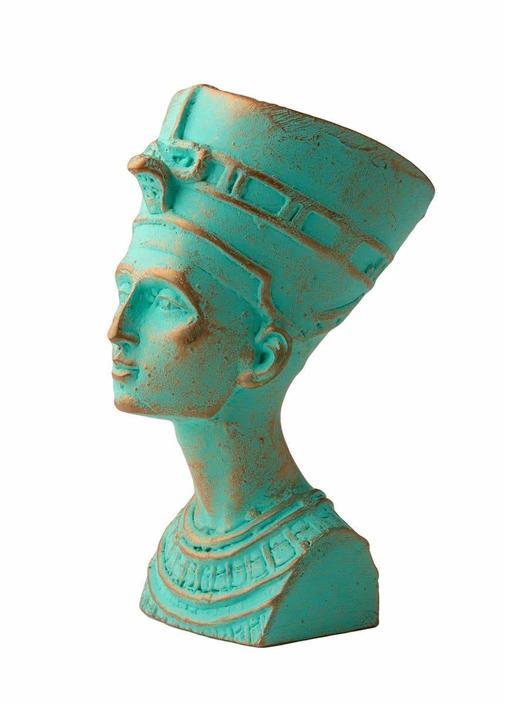 Verdigris Nefertiti Bust