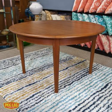 Danish Modern teak dining table with 2 large drop-in extensions by Falster
